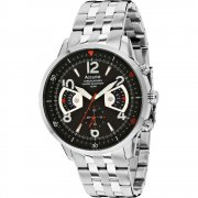 Accurist Acctiv black dial chronograph stainless steel bracelet Mens watch MB1020B