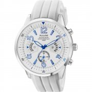 Accurist Acctiv white dial chronograph rubber strap Mens watch MS920WW