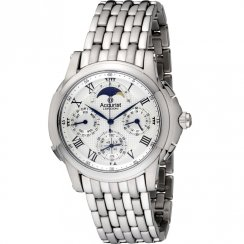Accurist Greenwich Collection Chrome Bracelet Gents Watch GMT122W