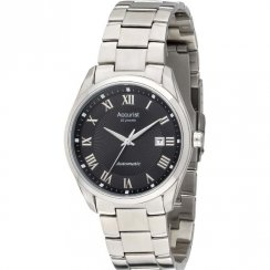 Accurist Automatic black dial stainless steel bracelet Mens watch MB916B