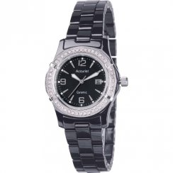 Accurist  black dial ceramic bracelet Ladies watch LB1650B