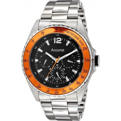 Accurist Black Dial Stainless Steel Bracelet Gents Watch MB9450B