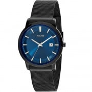 Accurist Blue Dial Black Mesh Bracelet Gents Watch MB899N