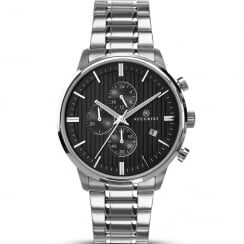 Accurist Chronograph Black Dial Stainless Steel Bracelet Gents Watch 7059