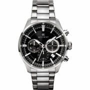 Accurist Chronograph Black Dial Stainless Steel Bracelet Gents Watch 7194