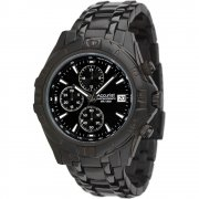 Accurist Chronograph Black Dial Stainless Steel Bracelet Mens Watch MB837