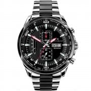 Accurist Chronograph Black Dial Two Tone Bracelet Gents Watch 7006