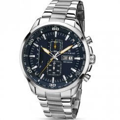 Accurist Chronograph Blue Dial Stainless Steel Bracelet Gents Watch 7005