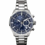 Accurist Chronograph Blue Dial Stainless Steel Bracelet Gents Watch 7193