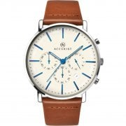 Accurist Chronograph Cream Dial Tan Leather Strap Gents Watch 7169
