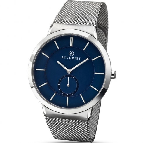 Accurist Classic Blue Dial Mesh Bracelet Gents Watch 7014