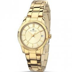 Accurist Classic Champagne Dial Gold Bracelet Ladies Watch 8012