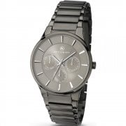 Accurist Classic Grey Dial Gun-metal Bracelet Gents Watch 7038