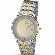 Accurist Classic Grey Dial Two Tone Bracelet Gents Watch 7048