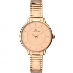 Accurist Classic Rose Gold Expander Ladies Watch 8141