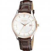 Accurist Classic Silver Dial Brown Leather Strap Gents Watch MS648