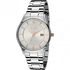 Accurist Classic Silver Dial Stainless Steel Bracelet Gents Watch MB649SR