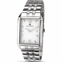 Accurist Classic White Dial Stainless Steel Bracelet Gents Watch 7031