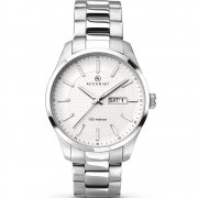 Accurist Classic White Dial Stainless Steel Bracelet Gents Watch 7056