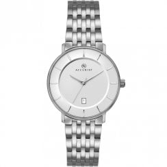 Accurist Classic White Dial Titanium Bracelet Ladies Watch 8173