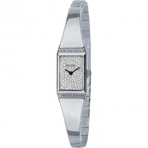 Accurist silver dial stainless steel semi-bangle Ladies watch LB1455