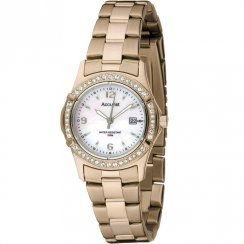 Accurist Stone Set White Dial Gold Bracelet Ladies Watch LB1544P