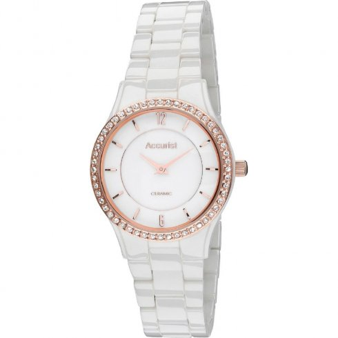 Accurist white dial ceramic bracelet Ladies watch LB1751W