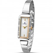 Accurist White Dial Stainless Steel Semi Bangle Ladies Watch 8025