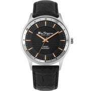 Ben Sherman Classic Black Dial Black Strap Gents Watch BS148