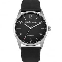Ben Sherman Classic Black Dial Black Strap Gents Watch BS151