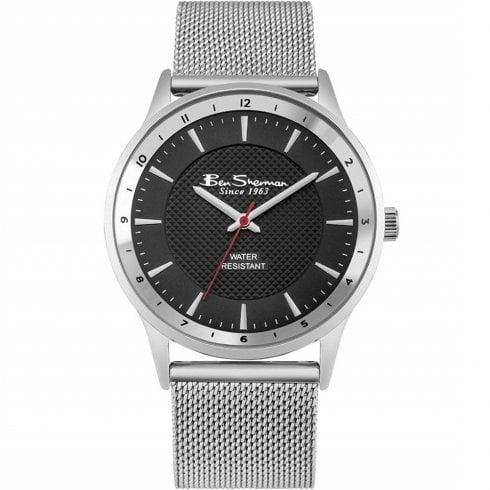 Ben Sherman Classic Black Dial Mesh Bracelet Gents Watch BS149