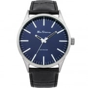 Ben Sherman Classic Blue Dial Black Leather Strap Gents Watch BS060A