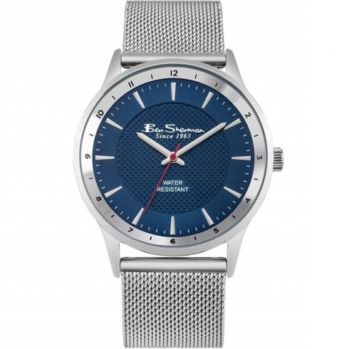 Ben Sherman Classic Blue Dial Mesh Bracelet Gents Watch BS150