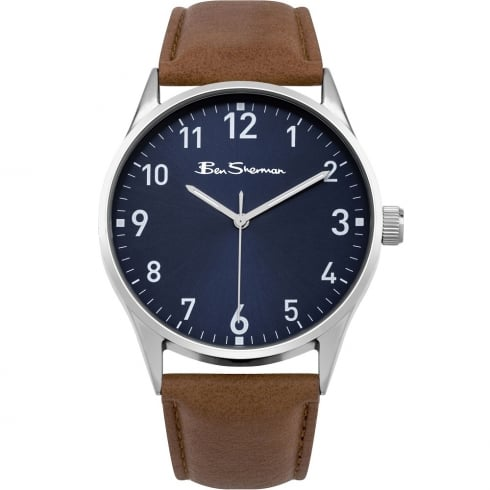Ben Sherman Classic Blue Dial Tan Strap Gents Watch BS143