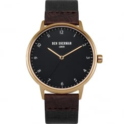 Ben Sherman Classic Grey Dial Black Nylon Strap Gents Watch WB049BRG