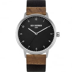 Ben Sherman Classic Grey Dial Black Nylon Strap Gents Watch WB049TE