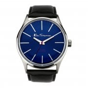 Ben Sherman ClassicBlue Dial Black Faux Leather Strap Gents Watch R920