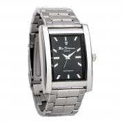 Ben Sherman Diamond Set Rectangular Gents Stainless Steel Bracelet Watch R741