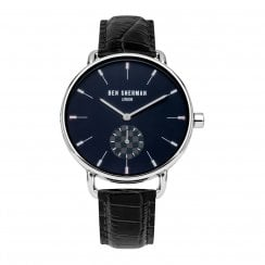 Ben Sherman London Gent's Black Leather Wristwatch WB063UB