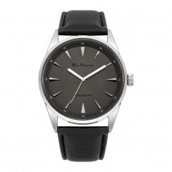 Ben Sherman Original Gent's Black Dial Leather Strap Watch BS107
