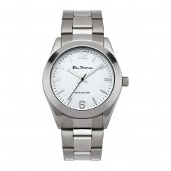 Ben Sherman Original White Dial Stainless Steel Bracelet Gents Watch BS117