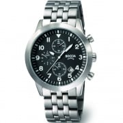 Boccia Chronograph Black Dial Titanium Bracelet Mens Watch 3772-02
