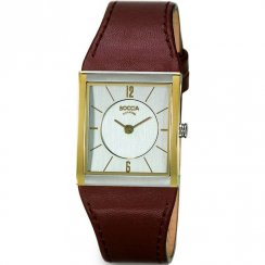 Boccia Classic Silver Dial Brown Leather Strap Ladies Watch 3148-02