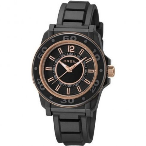 Breil Mantalite black dial resin strap Ladies watch TW0833