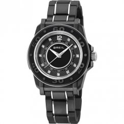 Breil Mantalite black dial resin strap Ladies watch TW0837
