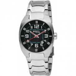 Breil Tribe black dial stainless steel bracelet Mens watch TW0454