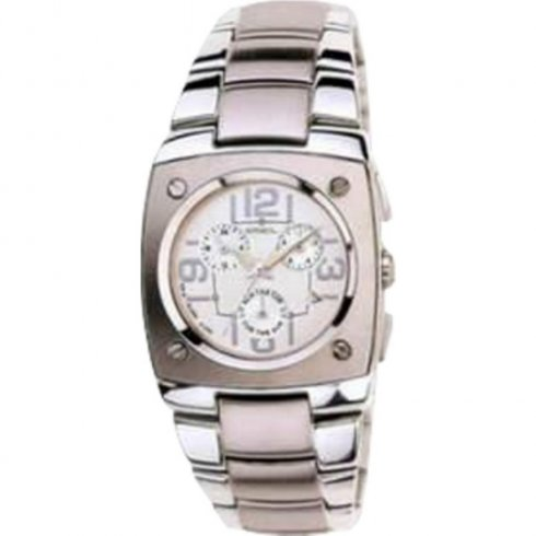 Breil Wild silver dial chronograph stainless steel bracelet Mens watch 2519740383