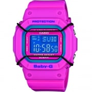 Casio Baby G Digital Chronograph World Time Pink Resin Strap Ladies Watch BGD-501-4ER