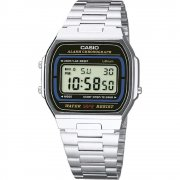 Casio Collection Digital Chronograph Stainless Steel Bracelet Mens Watch A164WA-1VES