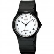 Casio Collection white dial resin strap Mens watch MQ-24-7BLL